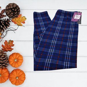 New Mix Buttery Soft Navy Plaid Leggings